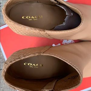 Coach Shoes - Coach Heidi Leather Boots